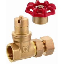 J114 brass magnetic gate valve before water meter